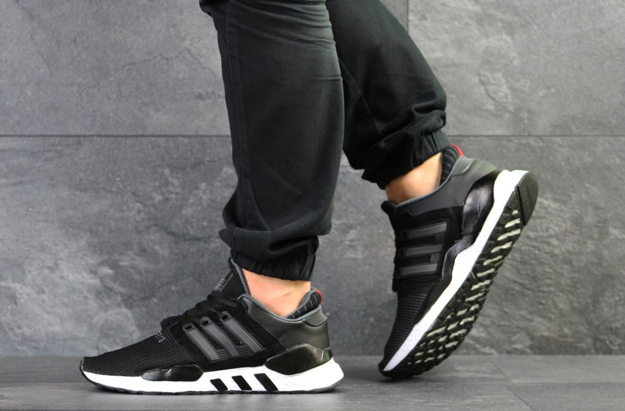 Мужские кроссовки Adidas Equipment 91/18 (черно-белые)