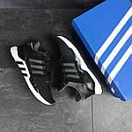 Чоловічі кросівки Adidas Equipment 91/18 (чорно-білі), фото 3