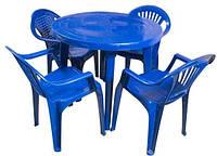 Стол круглый пластиковый S634