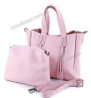Женская кожаная сумка K2028 pink