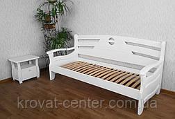 """Белый односпальный диван кровать из массива дерева """"Луи Дюпон Люкс"""", фото 3"""