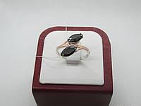 """Кольцо серебренное с камнем оникс """"Маркиз"""", фото 1"""