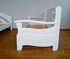 """Белый детский диван кровать из натурального дерева """"Луи Дюпон Люкс"""", фото 3"""