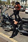 Куртка Кожаная Шанель - Воротник Пояс 001ДЛ, фото 5