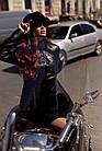 Куртка Кожаная Шанель - Воротник Пояс 001ДЛ, фото 8
