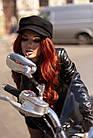 Куртка Кожаная Шанель - Воротник Пояс 001ДЛ, фото 9