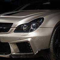 MERCEDES-BENZ CLS W219 замена штатных биксеноновых линз на Hella F1