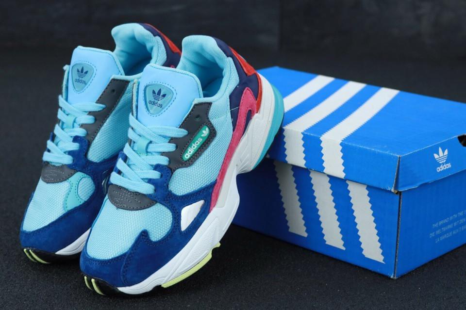 Женские кроссовки Adidas Falcon (разноцветные)