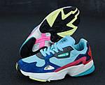 Женские кроссовки Adidas Falcon (разноцветные), фото 4