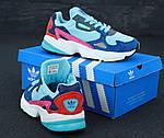 Женские кроссовки Adidas Falcon (разноцветные), фото 2