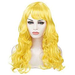 Парик Волнистый (желтый) 60см