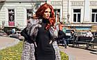 Жилетка В Пол Из Меха Чернобурки 0174Ж, фото 9