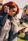 Жилетка В Пол Из Меха Чернобурки 0174Ж, фото 10