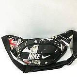 Спортивные сумки на пояс Nike (черно-серый принт)14*37см , фото 3