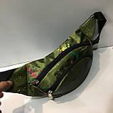 Спортивные сумки на пояс Nike (черно-серый принт)14*37см , фото 4