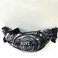 Спортивные сумки на пояс Nike (черно-серый принт)14*37см
