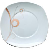 Тарелка 20,3см квадратная Золотой завиток SNT 30800-G11