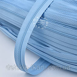 Блискавка рулонна темно-блакитного кольору, Т3 (метражем)