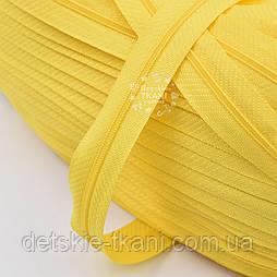 Блискавка рулонна жовтого кольору, Т3 (метражем)