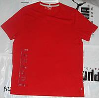 Спортивная футболка молодёжная Пума Vintage Logo Tee 2, прямого кроя, 54-го размера (L), длина 76см