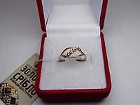 Золотое женское кольцо. Размер 17