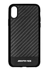 Оригинальный чехол для iPhone X Mercedes-AMG Carbon Cover for iPhone® X, Black (B66953702)