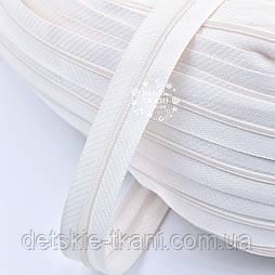 Блискавка рулонна кремового кольору, Т3 (метражем)