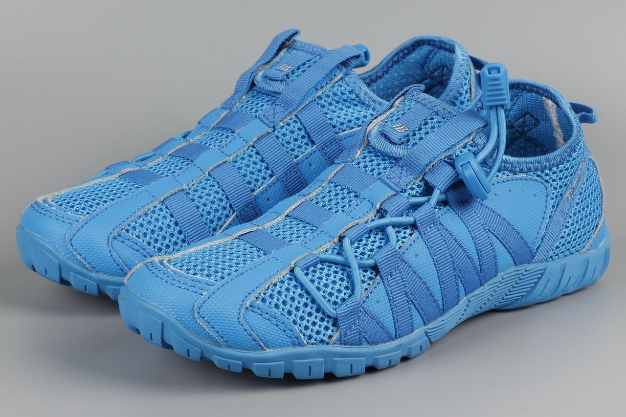 Кроссовки унисекс женские подростковые Bona 31435P-2 Бона синие сетка Размеры 36 37 38 39 40