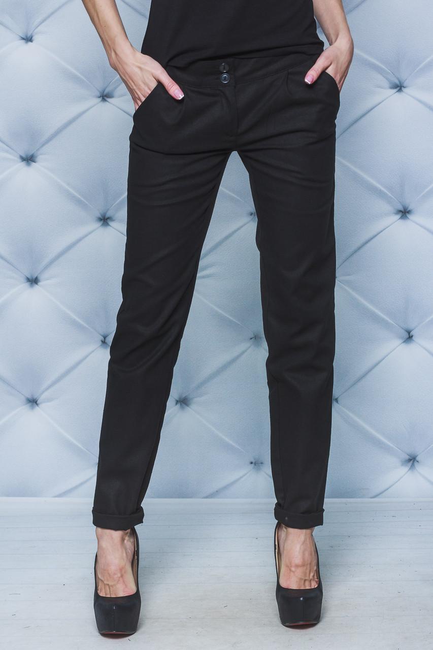 Летние брюки лен черные