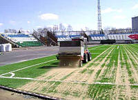 Песок кварцевый, для футбольных полей