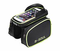 Велосипедная сумка B-Soul, велосумка на раму, для телефона., фото 1