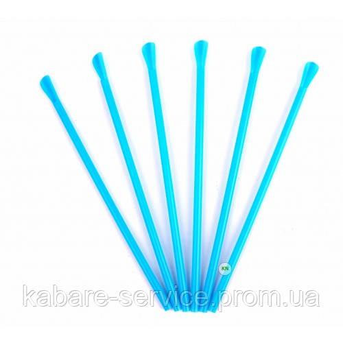 Трубочка (лопатка) голубая USA 20 см 6 мм 100 шт