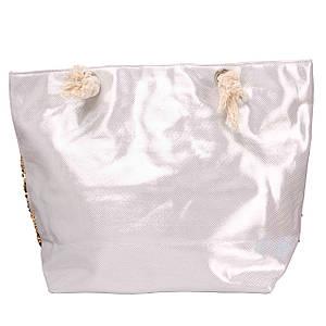Сумка пляжная женская цвет Белый ( 30357-03 )
