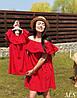 Жіноче літнє плаття з рюшами Famili Look 19080-2