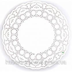 Салфетка ажурная-сервировочная 10 см 250 шт (белая)