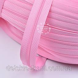 Блискавка рулонна рожевого кольору, Т3 (метражем)
