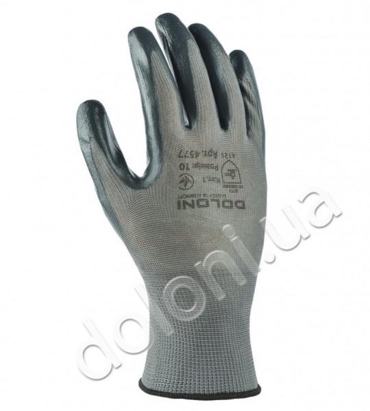 Защитные перчатки с нитриловым покрытием.DOLONI