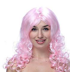 Парик Волнистый (светло-розовый) 60см