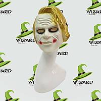 Маска пластик детская Джокер золото , фото 1