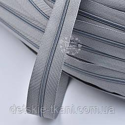 Блискавка рулонна темно-сірого кольору, Т3 (метражем)