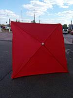 Квадратный пляжный зонт от солнца (красный 2х2 м), фото 1