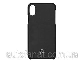 Оригинальный чехол для iPhone X Mercedes-Benz Logo Cover for iPhone® X, Black (B66953638)
