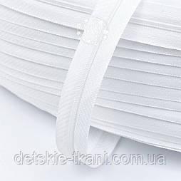 Молния рулонная белого цвета, Т3