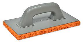 Терка пластмассовая Favorit с оранжевой губкой 130 х 270 мм (07-206)