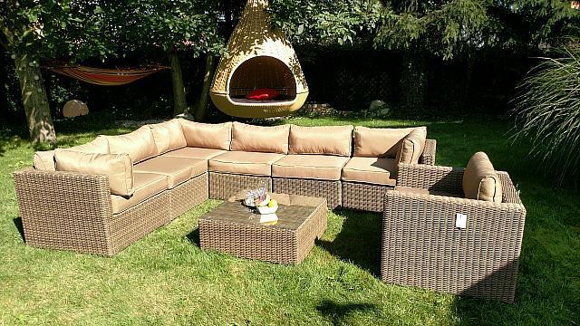 Угловой диван из ротанга Toscania! Алюмин. комплект!