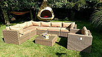 Угловой диван из ротанга Toscania! Алюмин. комплект!, фото 1