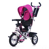 Велосипед Azimut Trike надувные колеса на спице розовый