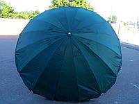 Круглый пляжный зонт 16 спиц (однотонный D 3 м, с клапаном), фото 1