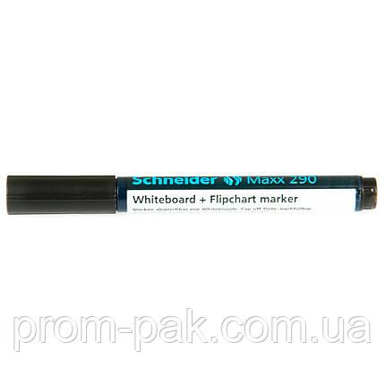 Маркеры для сухостираемых досок  и флипчартов Schneider MAXX 290  черный, фото 2