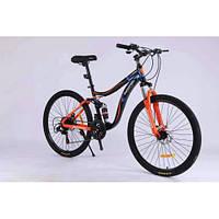 Спортивный велосипед Горный двухподвес TopRider-910 26 дюймов. Рама 16. Шимано Дисковые тормоза.
